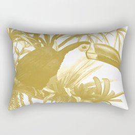 Toucans and Bromeliads - Spicy Mustard Rectangular Pillow
