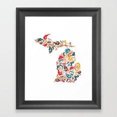 Michigan Colors Framed Art Print