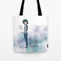 nurse Tote Bags featuring Nurse  by Ginkelmier