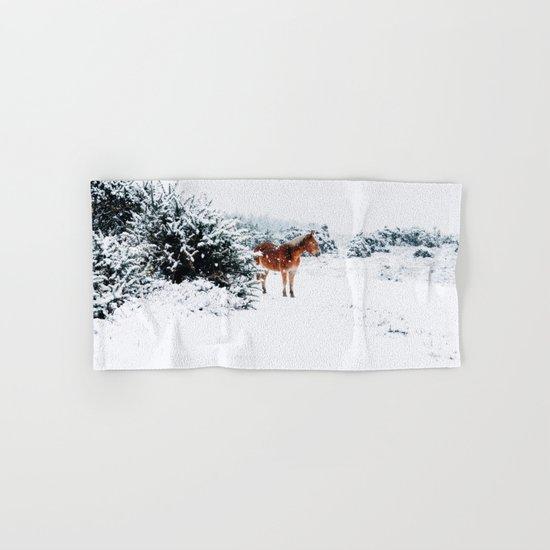 Winter horse Hand & Bath Towel
