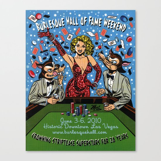 """""""Burlesque Hall of Fame Weekend 2010"""" by Mitch O'Connell Canvas Print"""