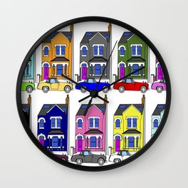 My own Notting Hill / A Victorian House & Retro car Wall Clock