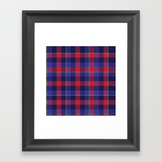 Red and Blue plaid Framed Art Print