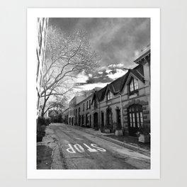 STOP For Brooklyn Heights Brownstone Love NYC Art Print