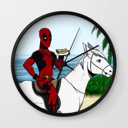 Look at this chimichanga Wall Clock