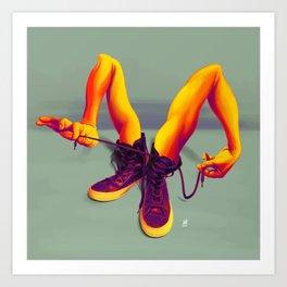 Tied up! Art Print