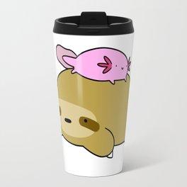 Axolotl and Sloth Travel Mug