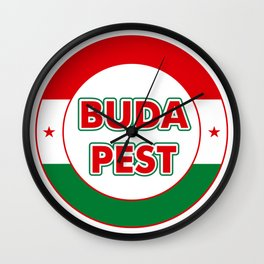 Budapest, circle, color Wall Clock