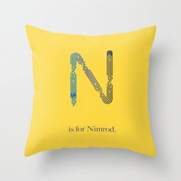 N is for Nimrod Throw Pillow