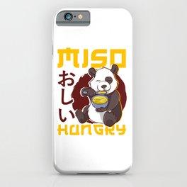 Cute Anime Panda Bear Miso Hungry Pun Kawaii iPhone Case