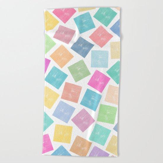 Colorful Geometric Patterns II Beach Towel