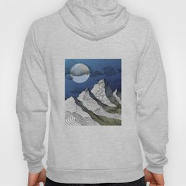 Woodcut Mountains - Night Hoody
