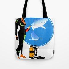 Scuba Girl - Adventure Poster Edition Tote Bag