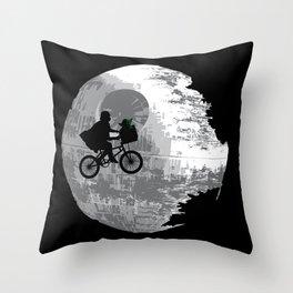 Yoda Phone Home Throw Pillow