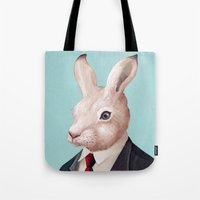 rabbit Tote Bags featuring Rabbit by Animal Crew