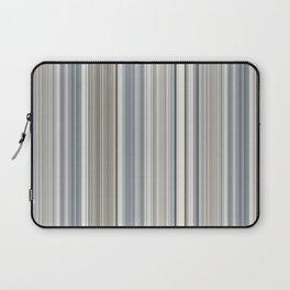 Blue grey Tan Stripes Laptop Sleeve
