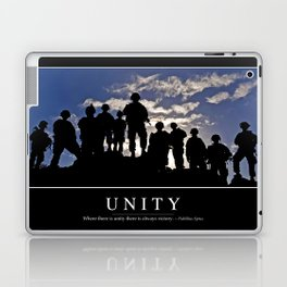 Unity: Inspirational Quote and Motivational Poster Laptop & iPad Skin