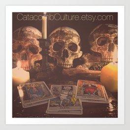 Catacomb Culture - Skulls and Tarot Art Print