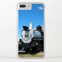 Denver & Rio Grande Steam Engine Clear iPhone Case