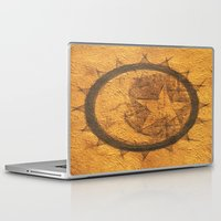 sun and moon Laptop & iPad Skins featuring Sun Moon Star by Geni