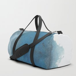 Available: dark abstract blue painting Duffle Bag