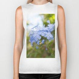 Pale Blue Hydrangea Flower Floral Pastel Colored Wall Art Print Biker Tank