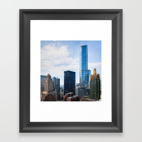 Architecture of Chicago Framed Art Print