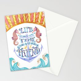 Life is Very Short Stationery Cards