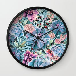 Succulents - For the Memory of a Never-ending Love Wall Clock