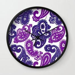 Fun Purple Paisley Wall Clock