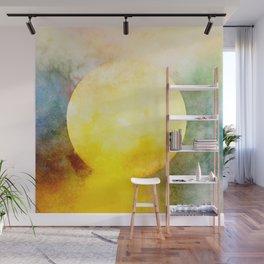 Watercolor Sunshine Sky Wall Mural