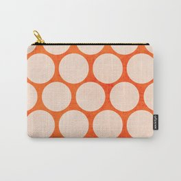 orange and white polka dots Carry-All Pouch