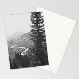 River through the Mountains Stationery Cards