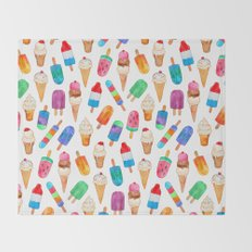 Summer Pops and Ice Cream Dreams Throw Blanket