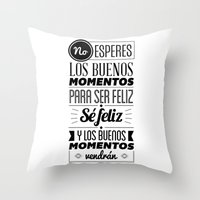 quotes Throw Pillows featuring Quotes by alesantanderp