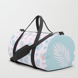 Pretty Pastel Flamingo Chevron Pattern #decor Duffle Bag
