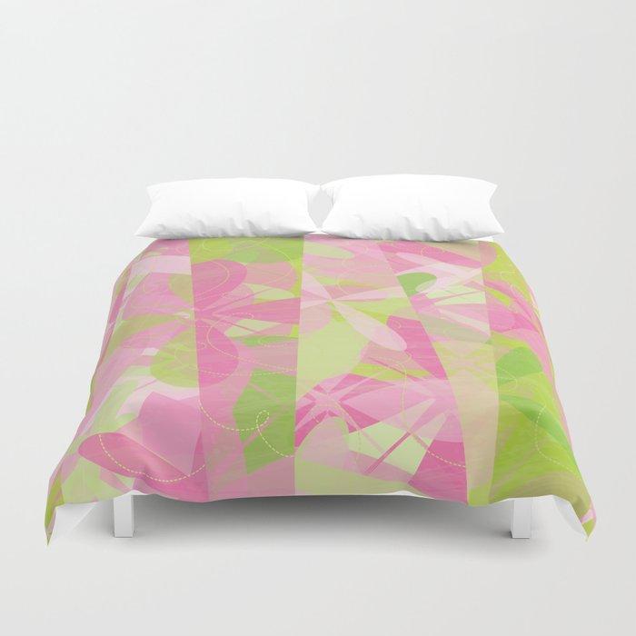 Abstract Floral Pattern - Spring Botanic Garden Duvet Cover