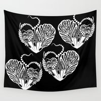 valentines Wall Tapestries featuring Valentines Day by Bazarovart