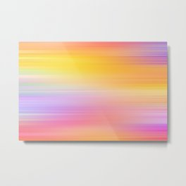 Abstract image of various colours blending into each other Metal Print