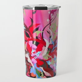 Red Arrangement Travel Mug