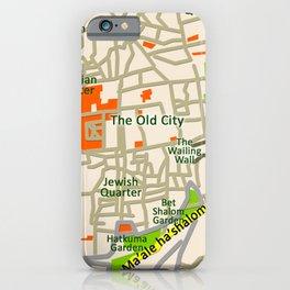 Jerusalem map design iPhone Case