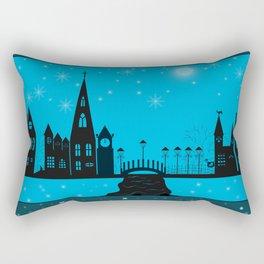 Winter night . Christmas. Rectangular Pillow