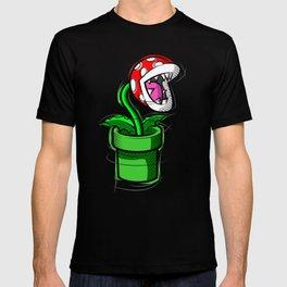 Piranha Plant Digital Drawing, Games Art, Super Mario, Nintendo Art T-shirt