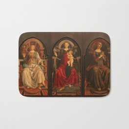 "Sandro Botticelli and Piero del Pollaiolo ""Theological and cardinal virtues"" Bath Mat"