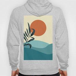 Abstract sun , leaf and sea art  Hoody