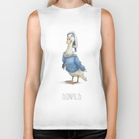 donald duck Biker Tanks featuring Real Life Donald Duck by onez
