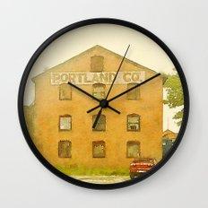Portland Co. Wall Clock