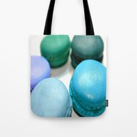 macaroons Tote Bags featuring Macarons / Macaroons by Whimsy Romance & Fun