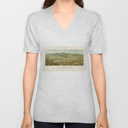 Vintage Colorado Springs and Pikes Peak Map (1890) Unisex V-Neck