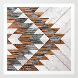 Urban Tribal Pattern 12 - Aztec - Wood Art Print